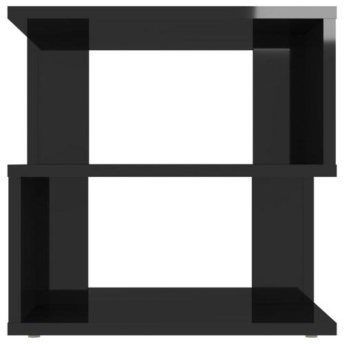 Bijzettafel 40x40x40 cm spaanplaat hoogglans zwart