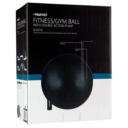 Avento Fitnessbal met pomp 65 cm zwart
