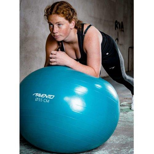 Avento Fitnessbal met pomp 65 cm blauw