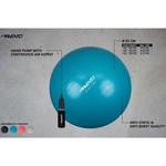 Avento Fitnessbal met pomp 65 cm zilverkleurig
