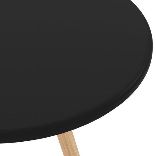 Bartafel 60x103 cm MDF en massief beukenhout zwart