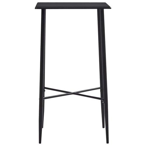 Bartafel 60x60x111 cm MDF zwart