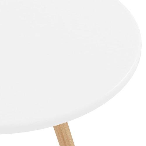 Bartafel 60x103 cm MDF en massief beukenhout wit