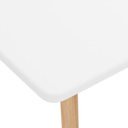 Bartafel 120x60x105 cm MDF en massief beukenhout wit