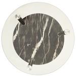 Bijzettafel 2-laags 38 cm gehard glas transparant en zwart