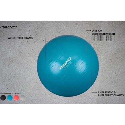Avento Fitnessbal 55 cm zwart