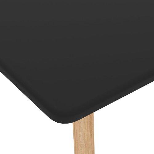 Bartafel 120x60x105 cm MDF en massief beukenhout zwart
