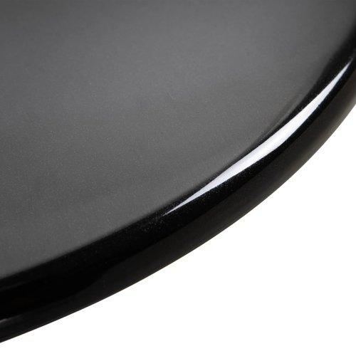 Bartafel Ø60 cm ABS zwart