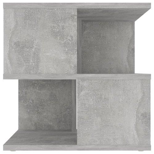 Bijzettafel 40x40x40 cm spaanplaat betongrijs