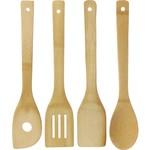 Excellent Houseware Bamboe Keukengerei - houten spatels