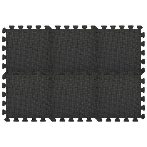 54x Vloermatten 4,86 ㎡ EVA-schuim zwart