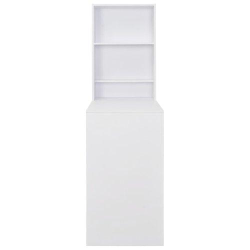 Bartafel met kast 115x59x200 cm wit