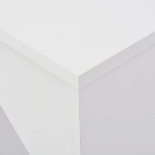 Bartafel met verplaatsbaar schap 138x39x110 cm wit