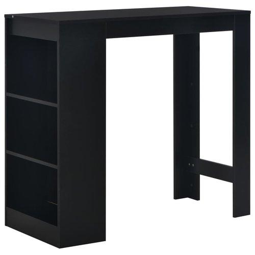 Bartafel met schap 110x50x103 cm zwart