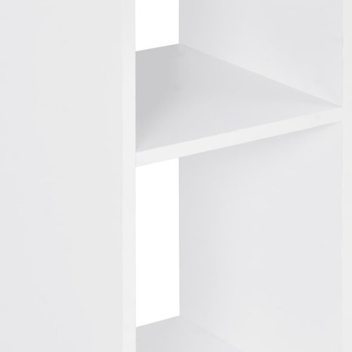 Bartafel 60x60x110 cm wit en antracietgrijs