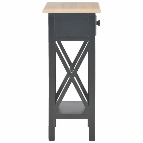 Bijzettafel 27x27x65,5 cm hout zwart