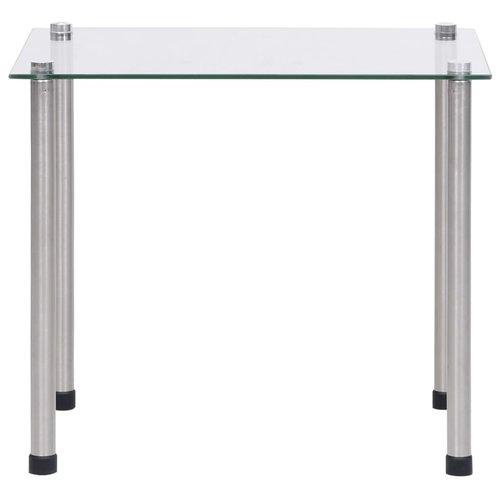 3-delige Tafeltjesset gehard glas transparant