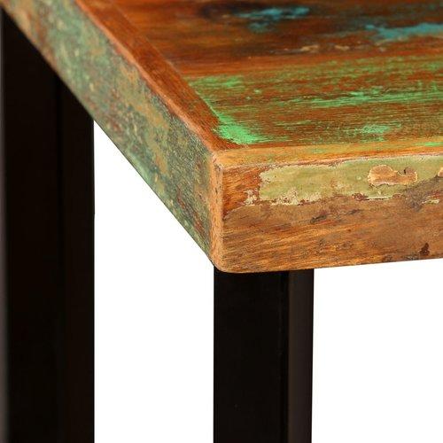 Bartafel 60x60x107 cm massief gerecycled hout