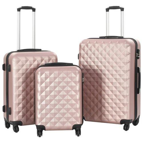 3-delige Harde kofferset ABS roségoud
