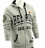 Hoodie gris Belgium avec tirette