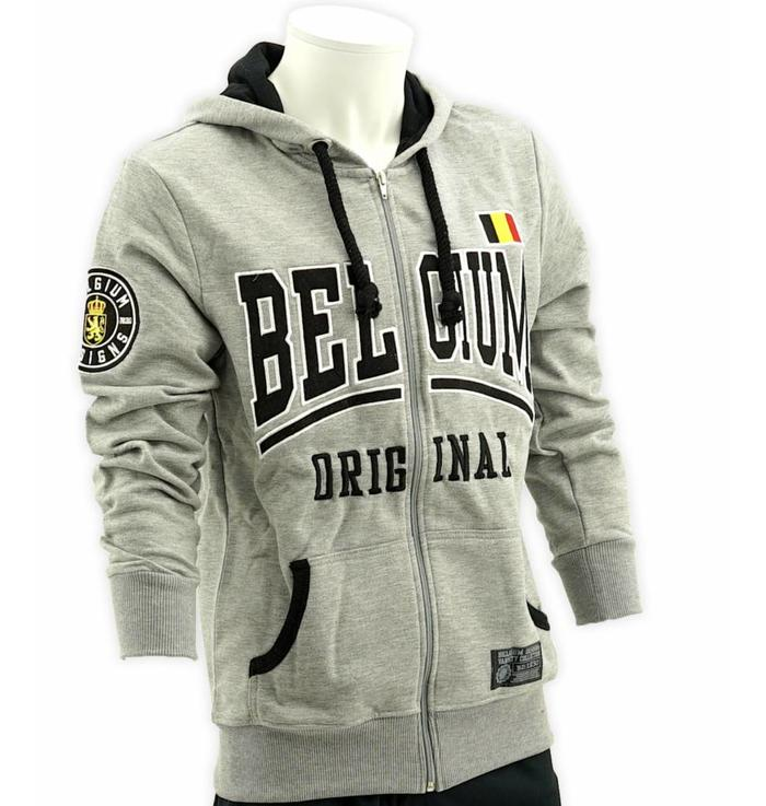 Grey hoodie with zipper