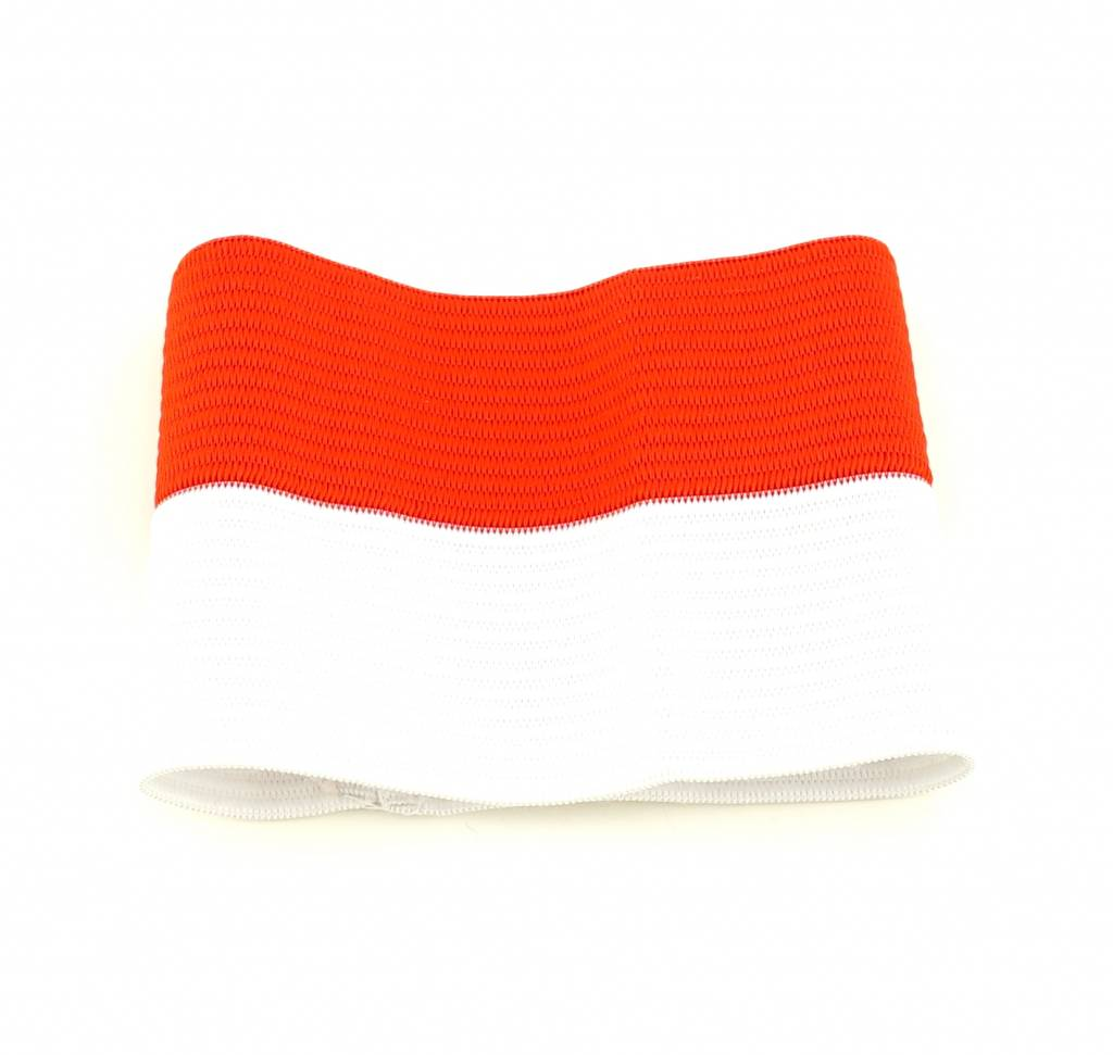 Brassard de capitaine rouge/blanc