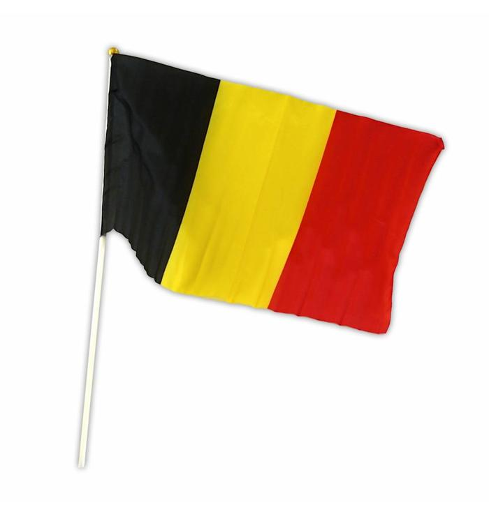 Flag Belgium on stick 30 x 45cm