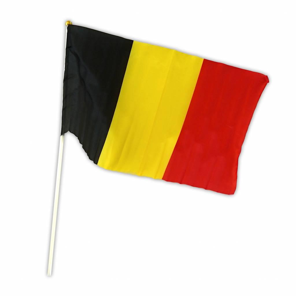 Drapeau Belgique sur bâton 30 x 45cm