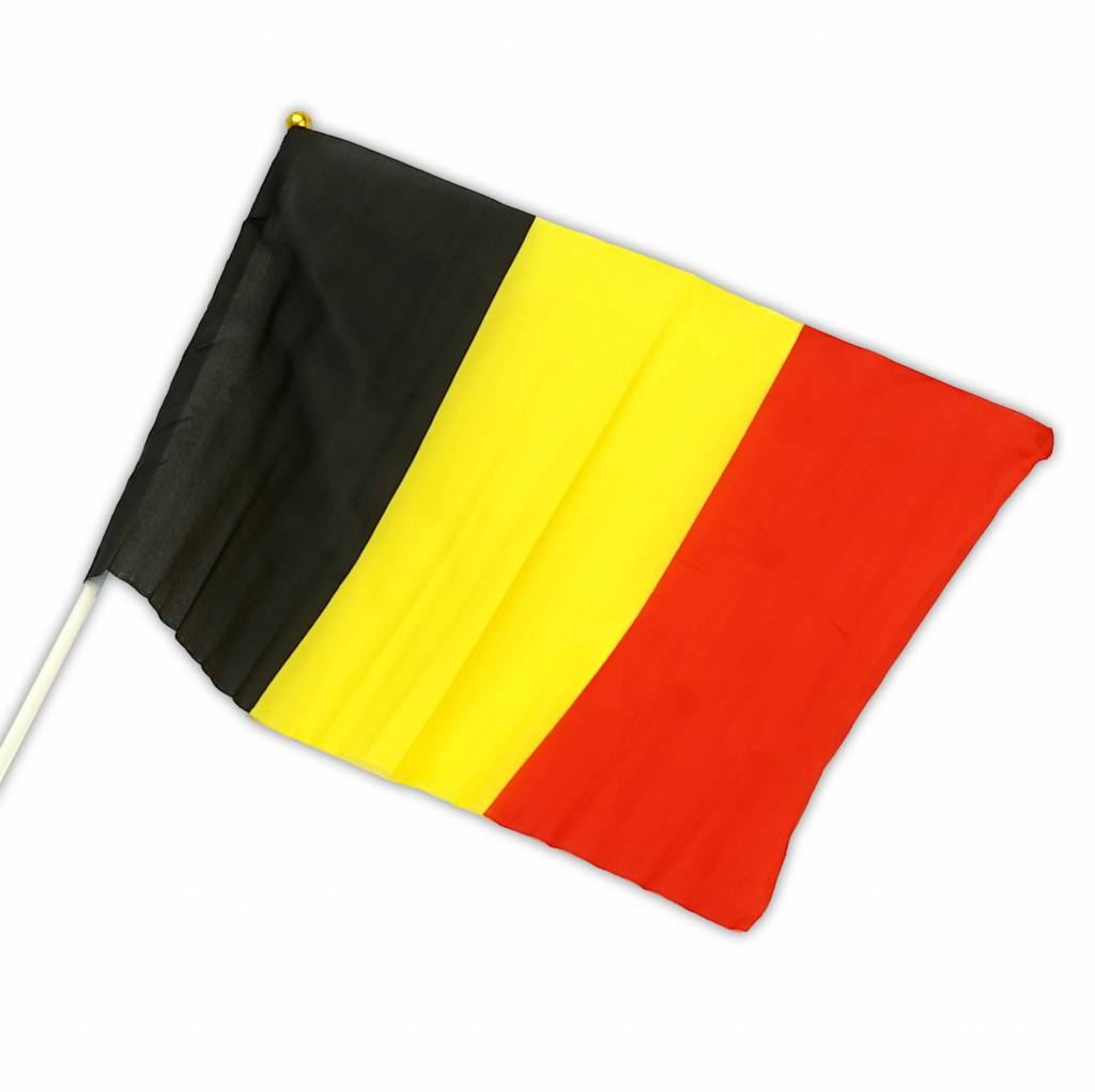 Flag Belgium on stick 30 x 45cm