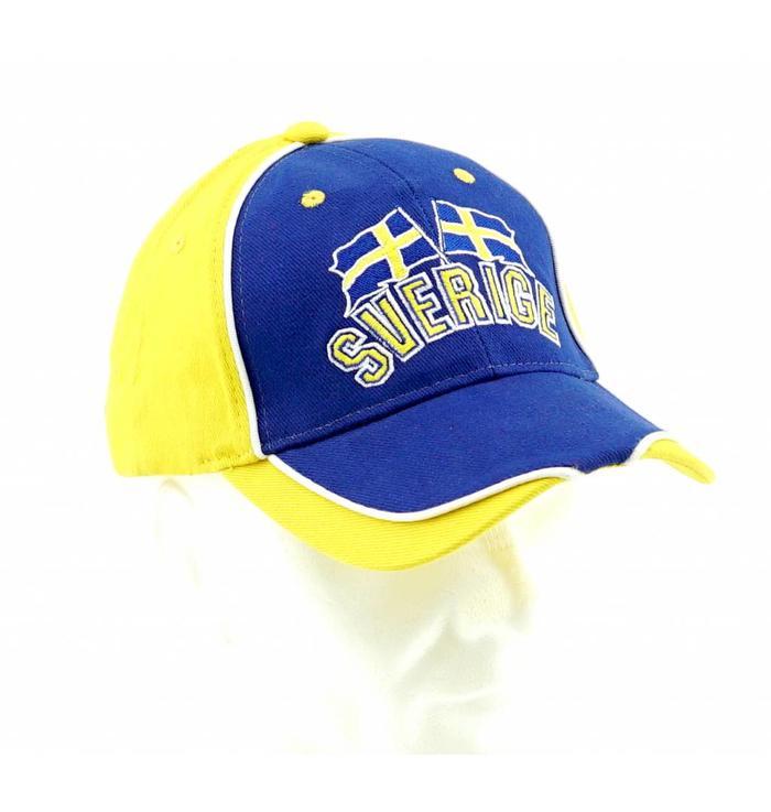 Casquette Suède bleue