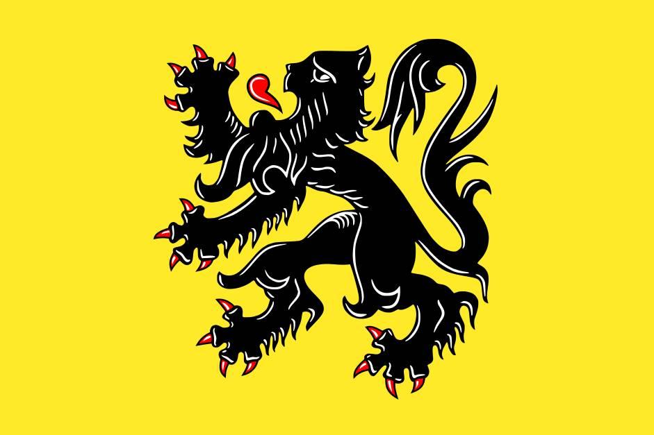 Zwaaivlagjes Vlaanderen (50 stuks)