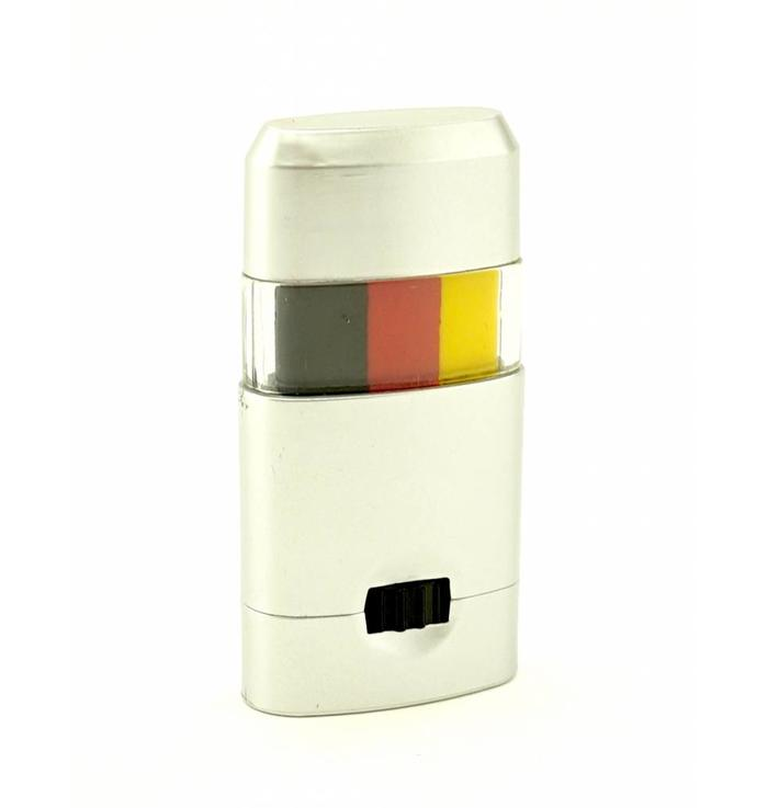 Make-up stick black-red-yellow