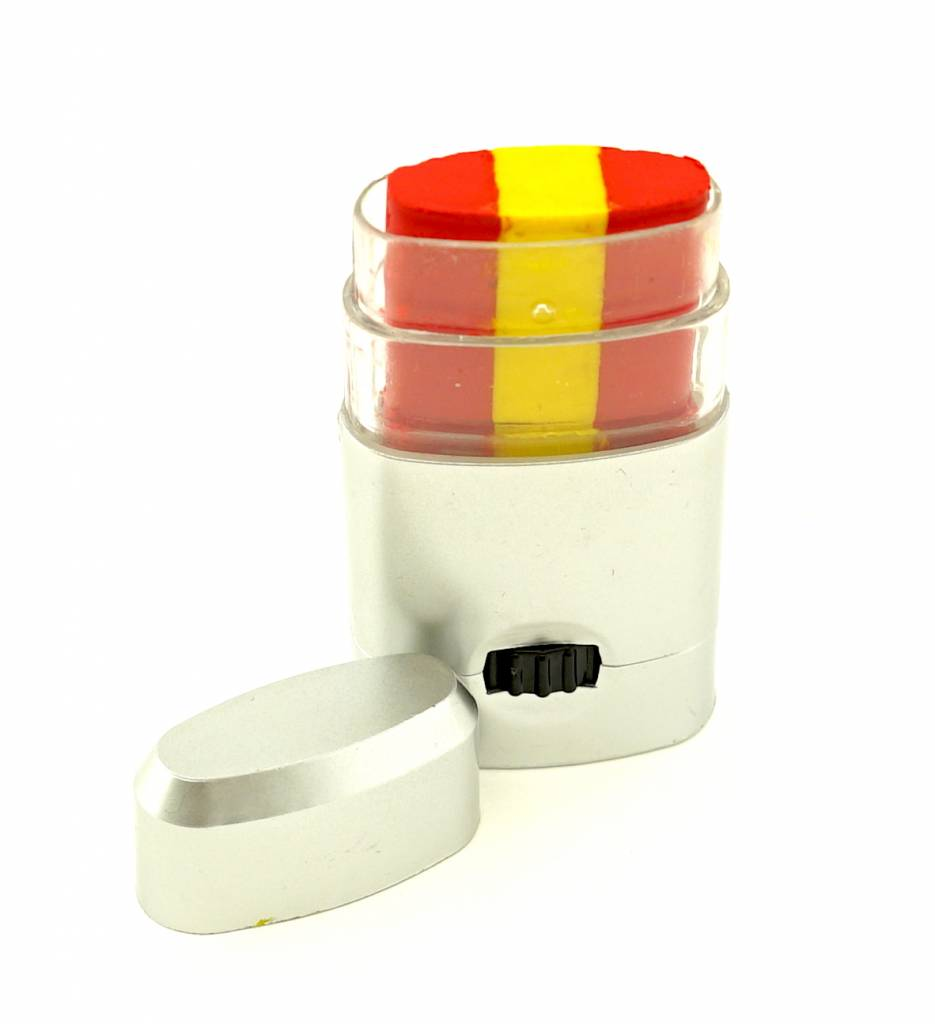 Make-up stick red-yellow-red