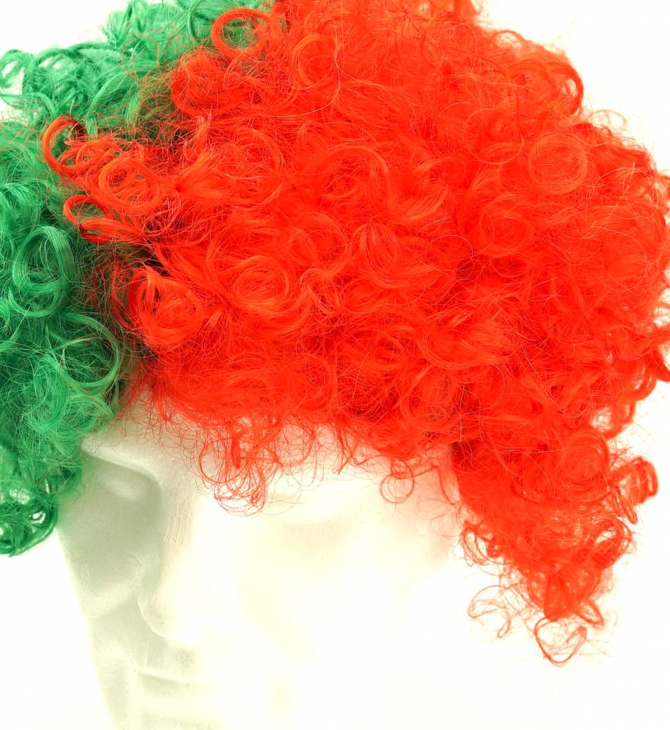 Wig green-red