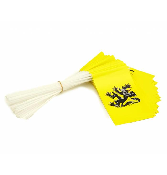 Wave flags Flanders (50 pcs)