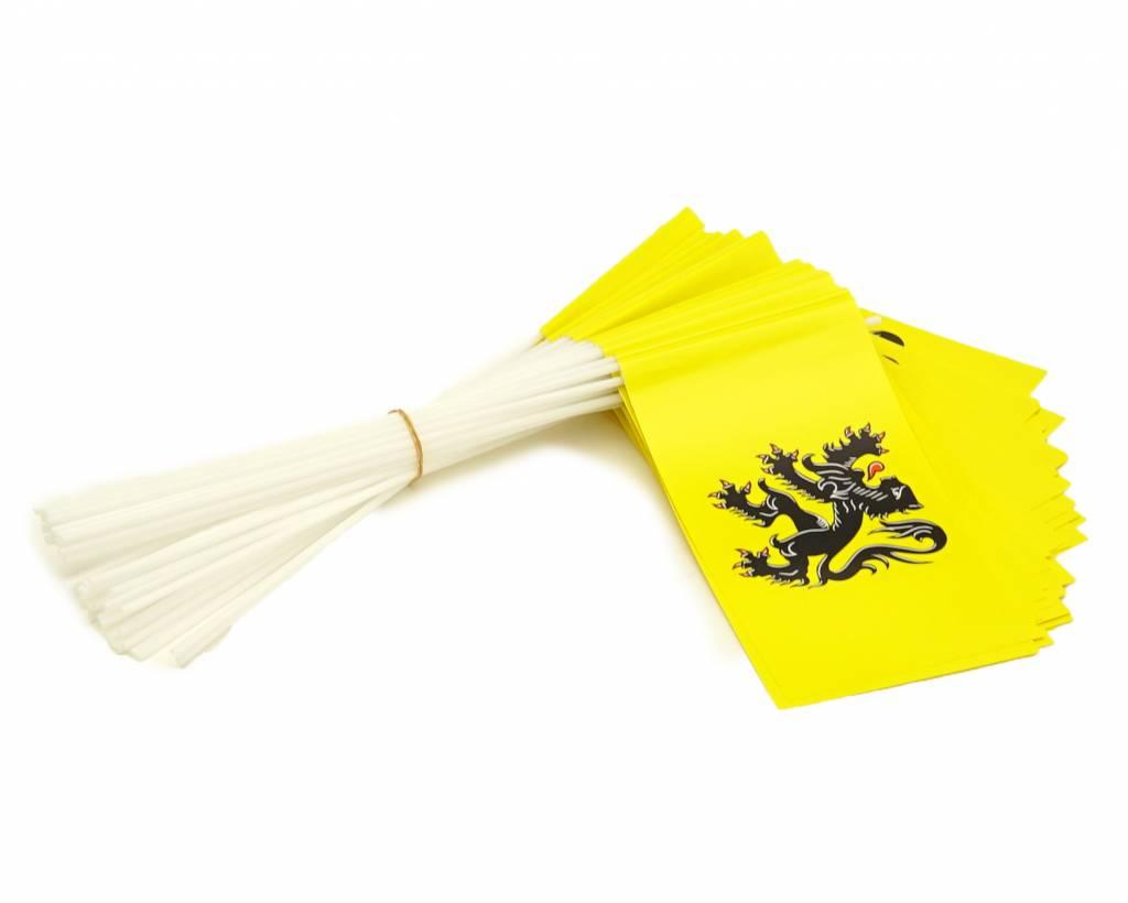 Drapeaux à main Flandre (50pcs)