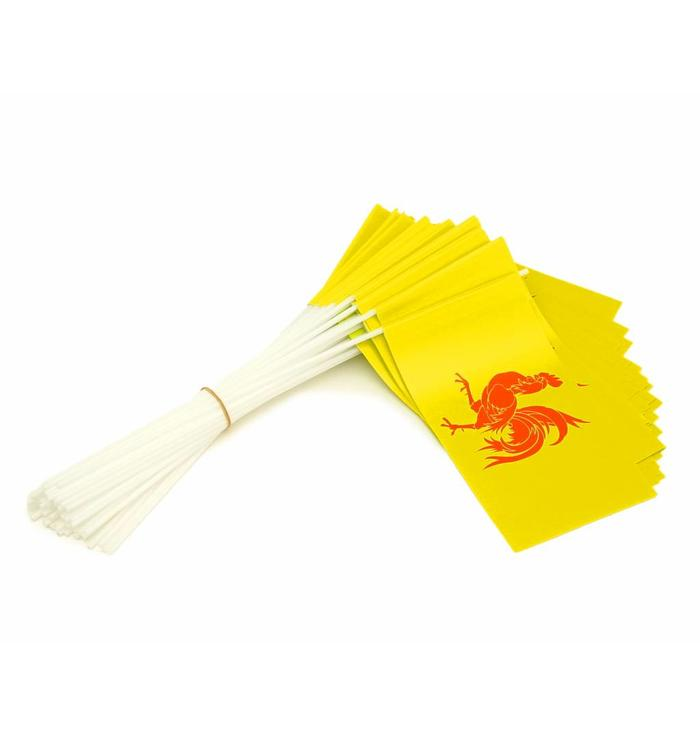Wave flags Wallonia (50 pcs)