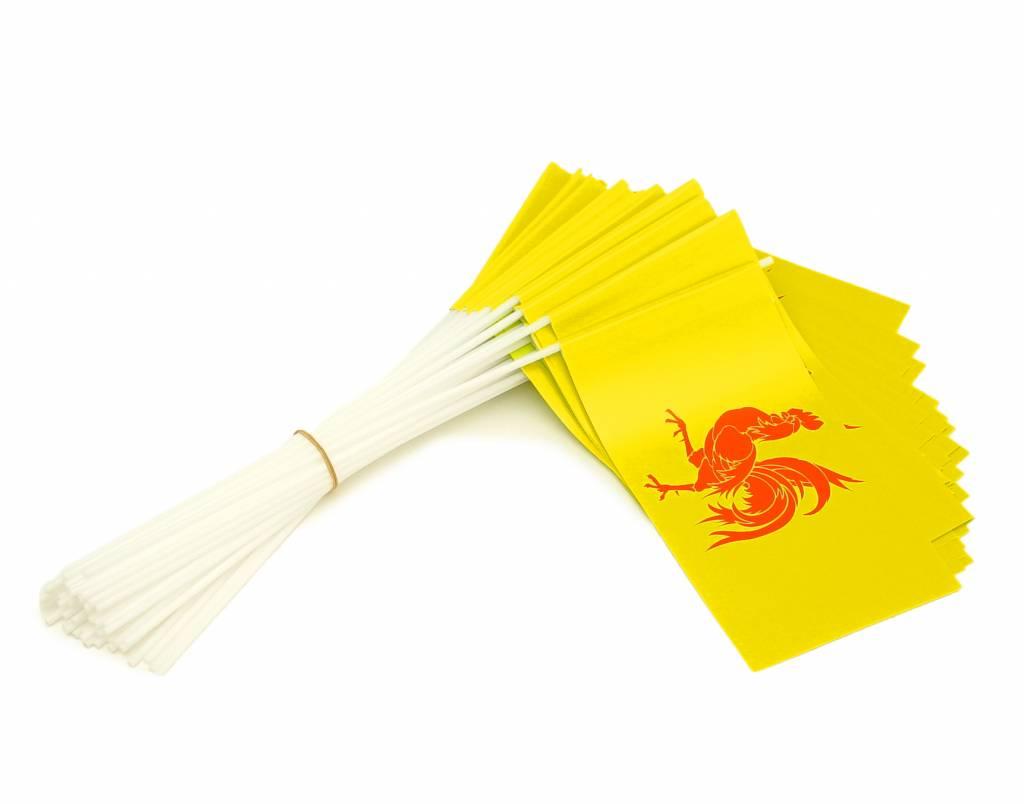 Wave flags Wallonia (50 pcs)