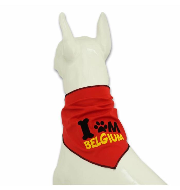 Dog scarf red Belgium