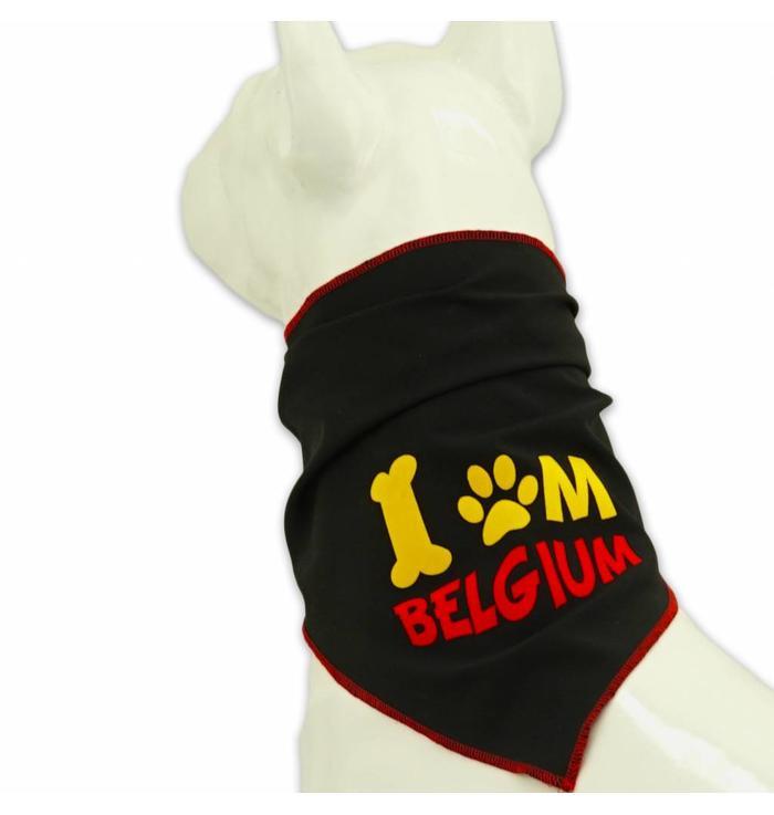 Dog scarf black Belgium