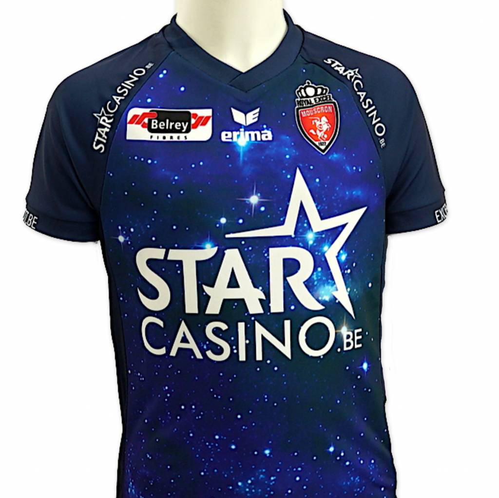 Away shirt Royal Excel Mouscron for kids 2018-2019