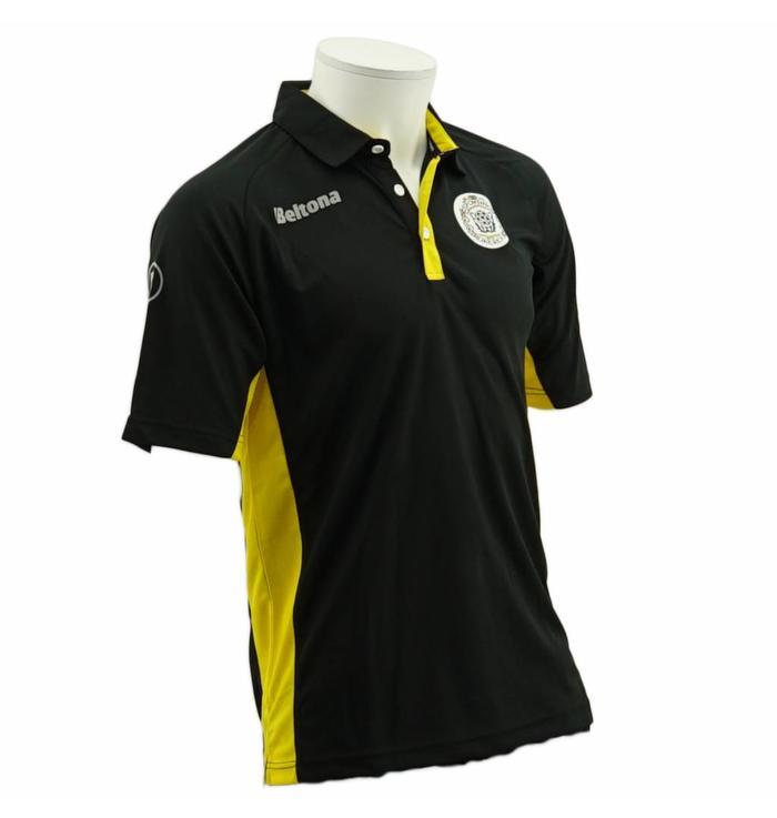 Polo zwart/geel