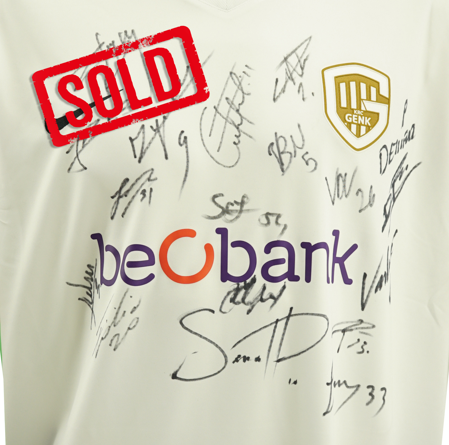 Gesigneerd shirt - KRC Genk - team wit