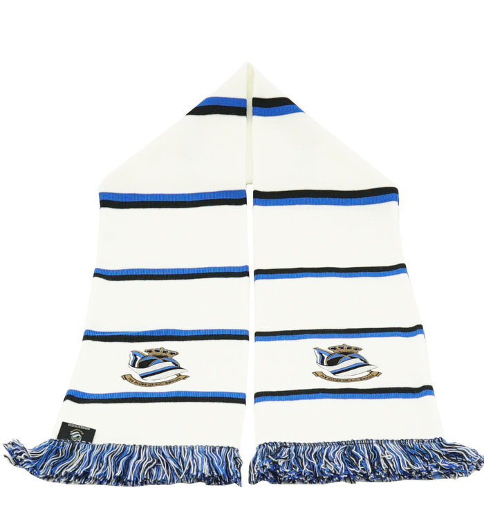 Block scarf white - Blues FCB