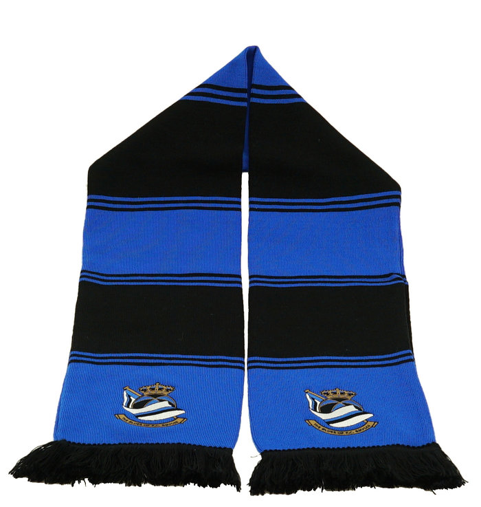 Block scarf  blue