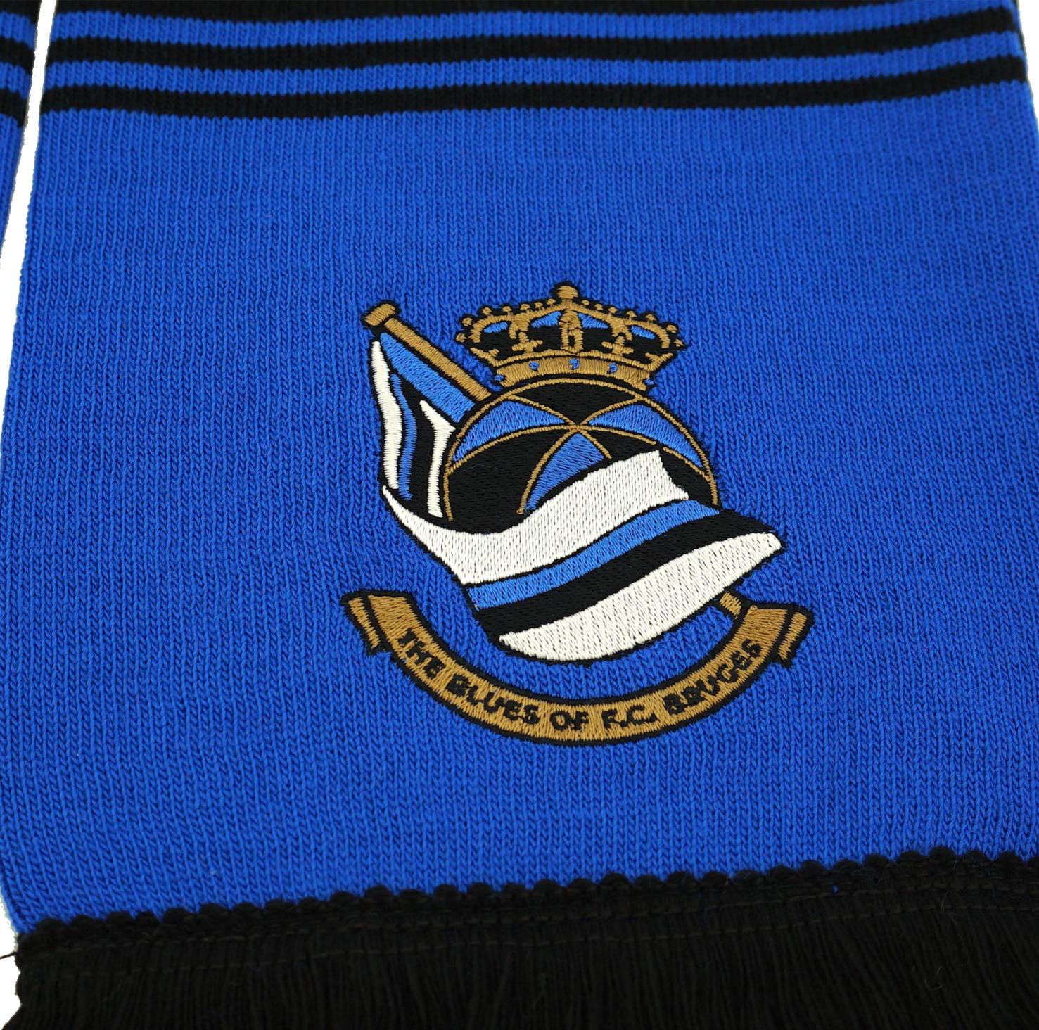 Block scarf  blue