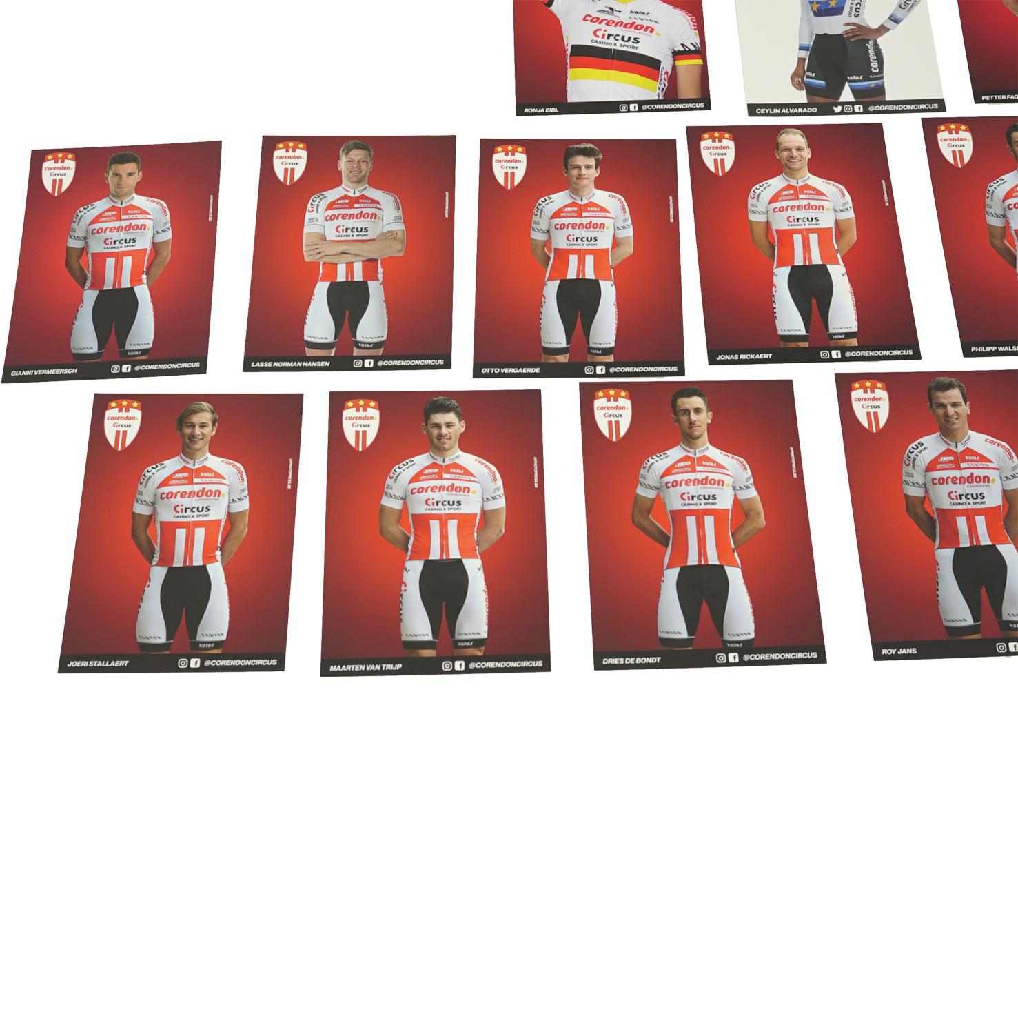 Complete set fotokaarten Corendon-Circus Pro Continentaal