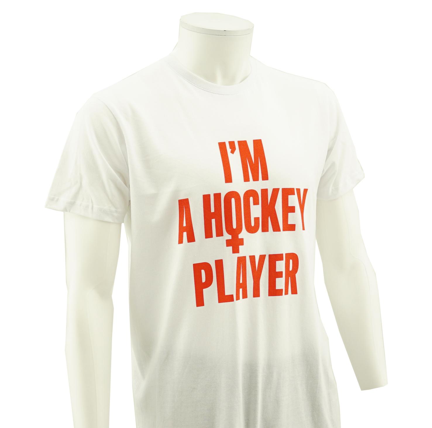 T-shirt  I'm a hockey player