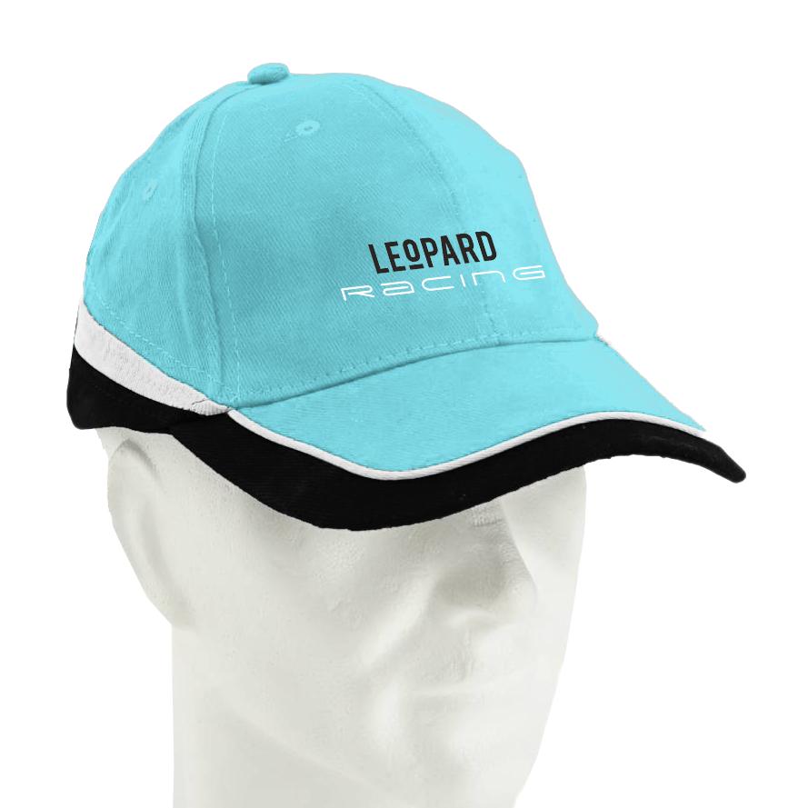 Casquette bleue Leopard Racing