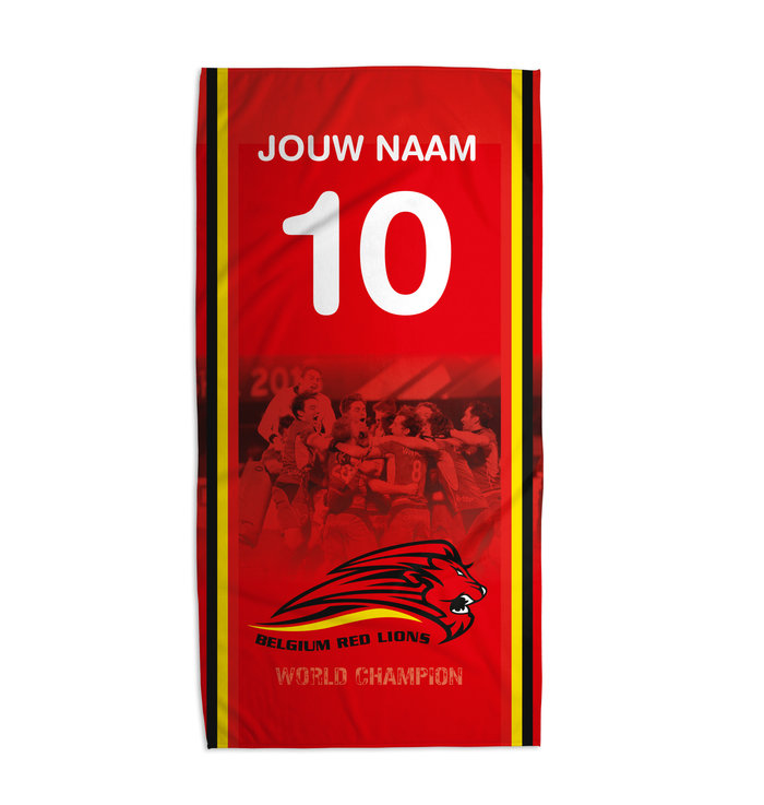 Personalised towel Red Lions